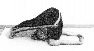 nohy za hlavou