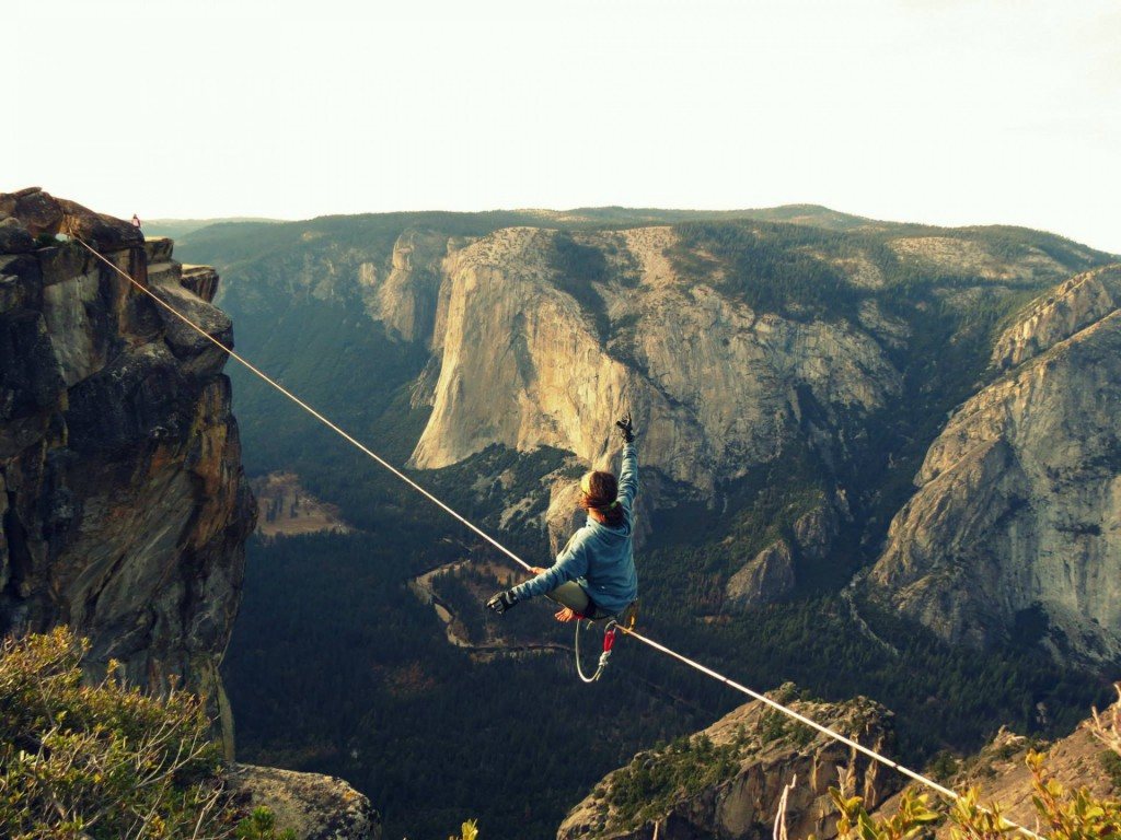 CA, Yosemite National Park, Taft Point Longline III