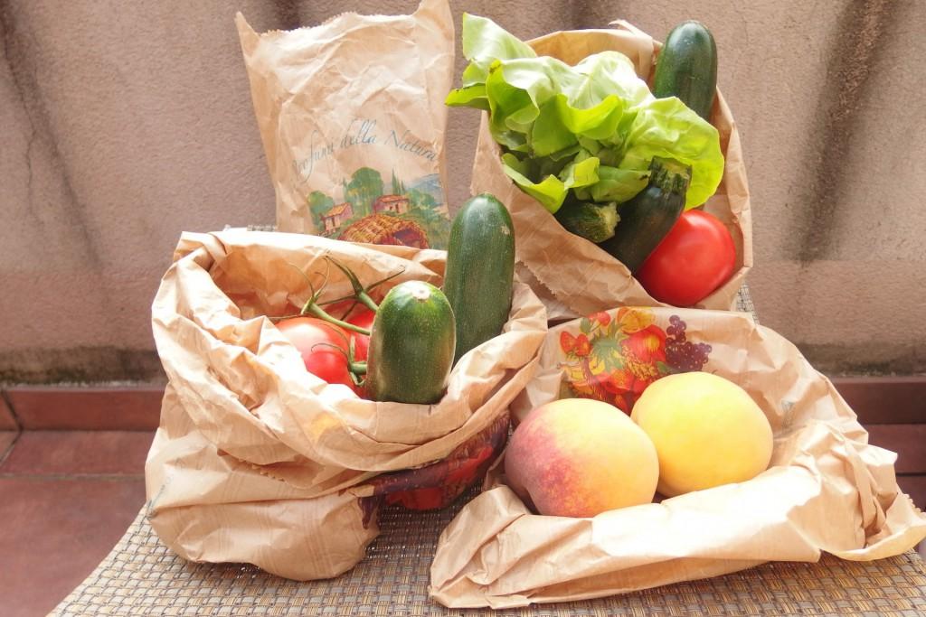 nákup z farmářských trhů