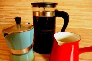 kávové mašinky.